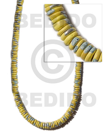 7-8mm coco pokalet. yellow Coco Beads