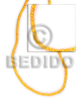 hand made 2-3 mm golden yellow coco Coco Beads