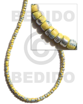 4-5mm coco pokalet. yellow Coco Beads
