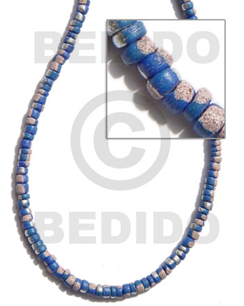 4-5mm coco pokalet. blue Coco Beads