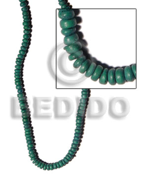 4-5mm moss green coco pokalet Coco Beads