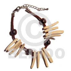 hand made Bleached coco indian stick Coco Bracelets