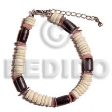 7-8mm coco pokalet. bleached Coco Bracelets
