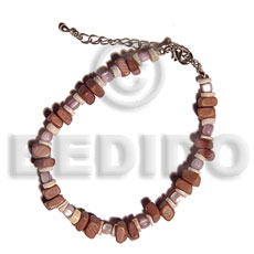 Tan sq. cut coco Coco Bracelets