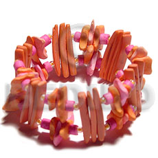 hand made Orange coco stick coco Coco Bracelets