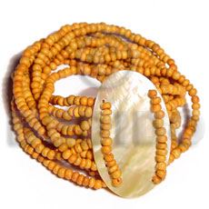 10 layers elastic 2-3mm orange Coco Bracelets