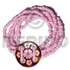 5 layers elastic 2-3mm pink Coco Bracelets
