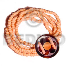 5 layers elastic 2-3mm orange Coco Bracelets