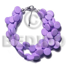 3 rows lavender coco sidedrill Coco Bracelets