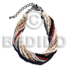 Twisted 6 rows 2-3mm coco Coco Bracelets