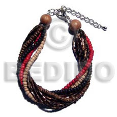 Twisted 4 rows 2-3mm coco Coco Bracelets