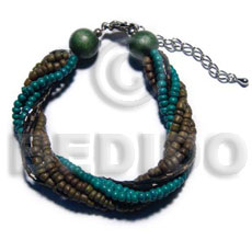 Twisted 3 rows 4-5mm coco Coco Bracelets