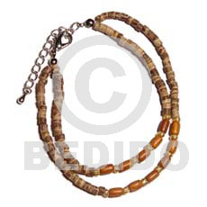 2 rows 2-3mm coco heishe Coco Bracelets