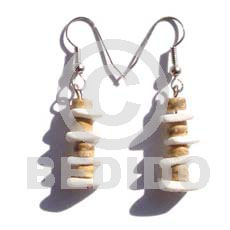 Dangling 7-8mm coco tiger heishe Coco Earrings