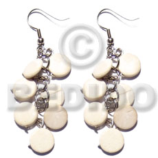 Dangling 10mm bleach white coco Coco Earrings