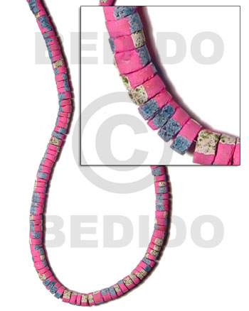 4-5mm coco heishe bright pink Coco Heishe Beads