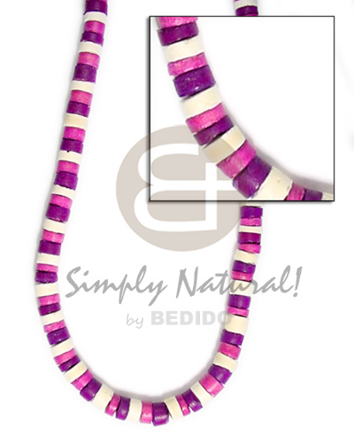 4-5mm coco heishe white pink violet combinationnation Coco Necklace