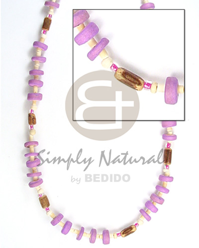 7-8mm c. pokalet lilac 2-3 hshe Coco Necklace