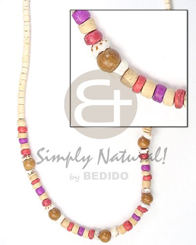 2-3mm coco heishe bleach Coco Necklace