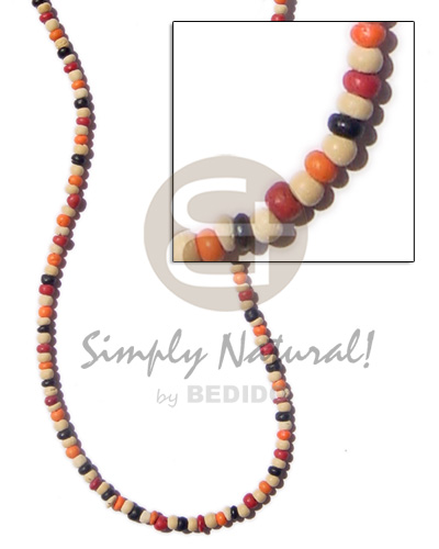 2-3 mm coco combination bleach blk red orange Coco Necklace