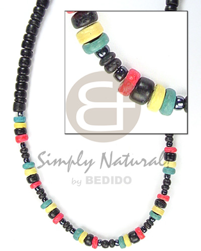 2-3mm black c. pokalet Coco Necklace