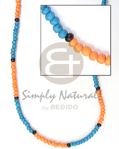 2-3mm coco pokalet turq blue mango Coco Necklace