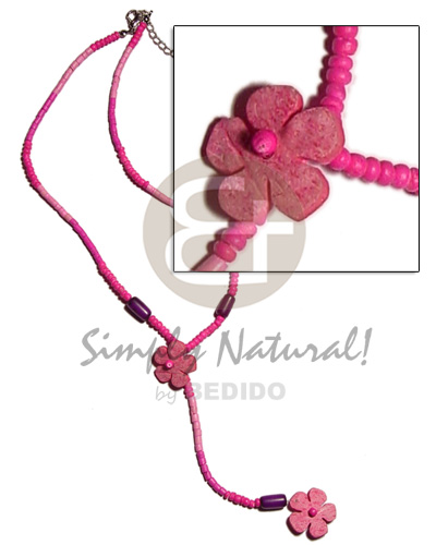2-3mm pink tones coco heishe pokalet. Coco Necklace