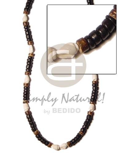 hand made 4-5mm black coco pokalet Coco Necklace