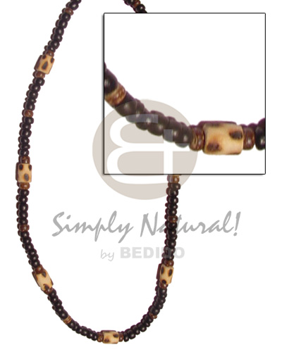4-5mm coco pokalet black brown Coco Necklace