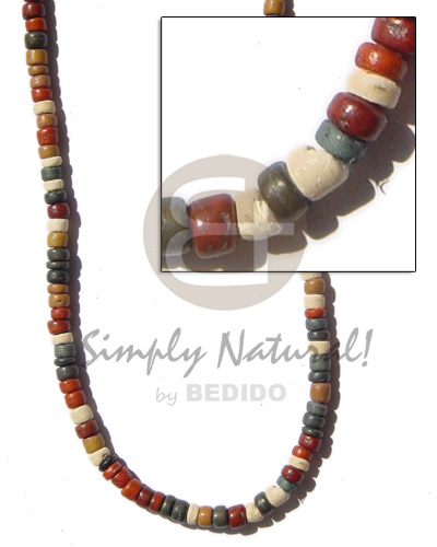 hand made Coco pokalet 4-5 earth tone Coco Necklace