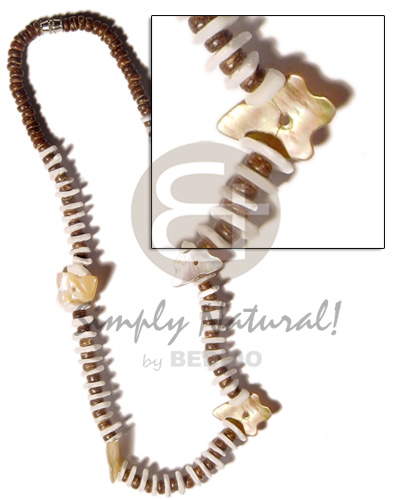4-5mm coco pokalet. natural brown Coco Necklace