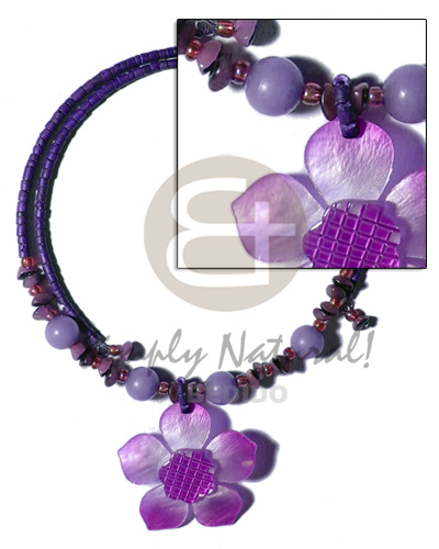 2-3mm navy blue coco heishe Coco Necklace