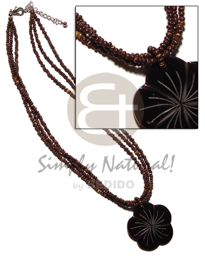 3 layer 2-3mm coco pokalet. Coco Necklace