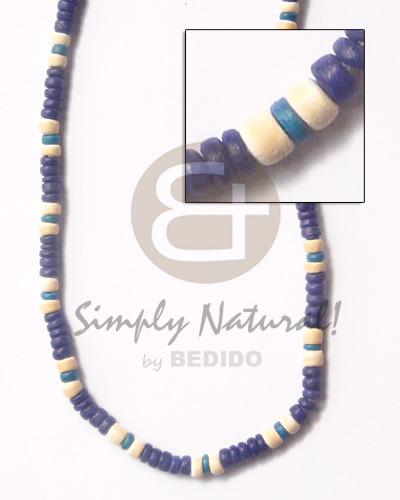 4-5 coco pukalet royal blu Coco Necklace