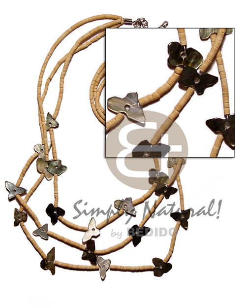 Graduated 3 layer 2-3mm coco Coco Necklace