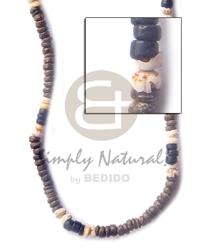 4-5 coco pukalet natural brown Coco Necklace