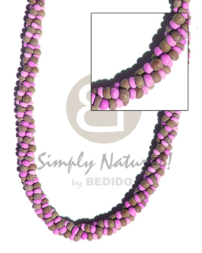 3 layers twisted 2-3mm Coco Necklace
