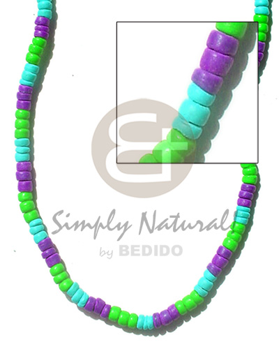 4-5mm coco pokalet lavender neon green aqua Coco Necklace