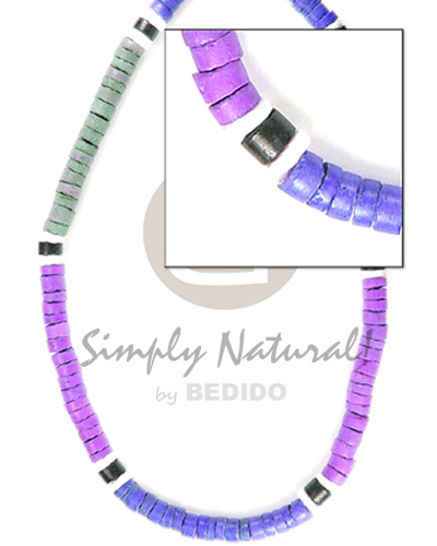 4-5mm coco heishe lavender navy blue light Coco Necklace