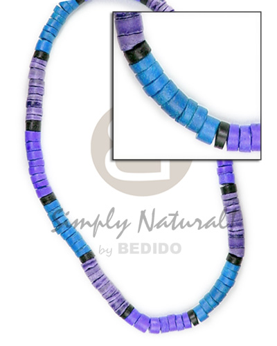 4-5mm coco heishe blue lilac violet combination Coco Necklace