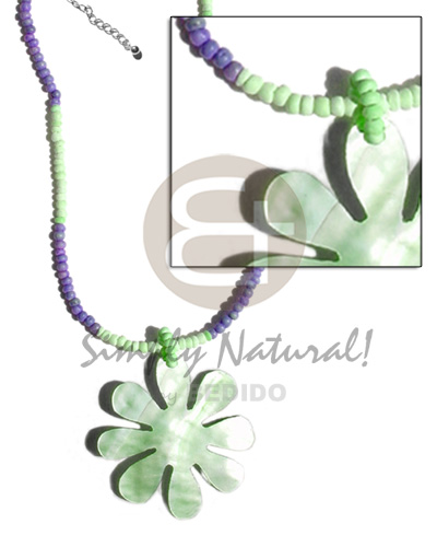 2-3mm mint green lavender coco pokalet Coco Necklace