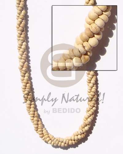 Twisted 2-3 coco pukalet Coco Necklace