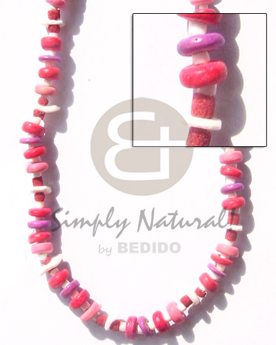 7-8mm pink lavender coco pokalet. white Coco Necklace