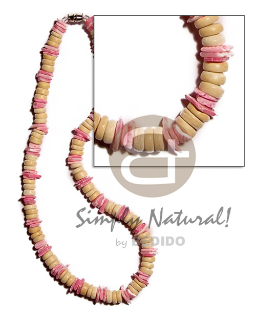hand made 7-8mm natural. white coco pokalet Coco Necklace