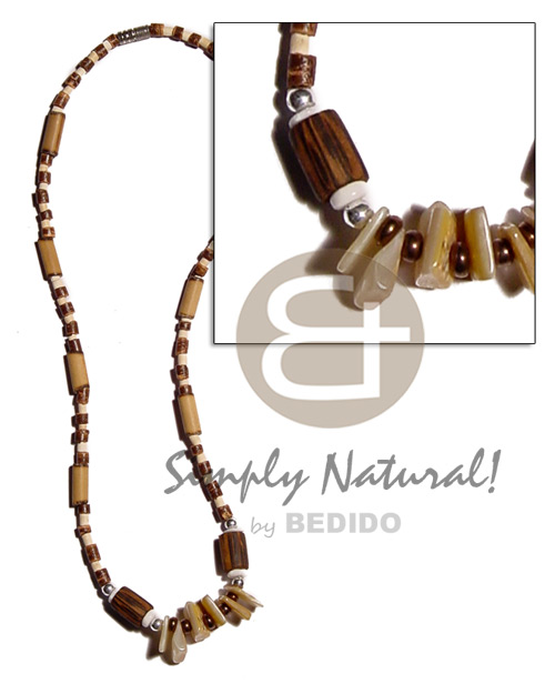 2-3mm coco heishe natural brown bleach Coco Necklace