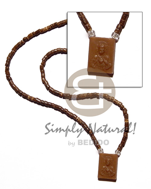 2-3mm coco heishe natural brown Coco Necklace