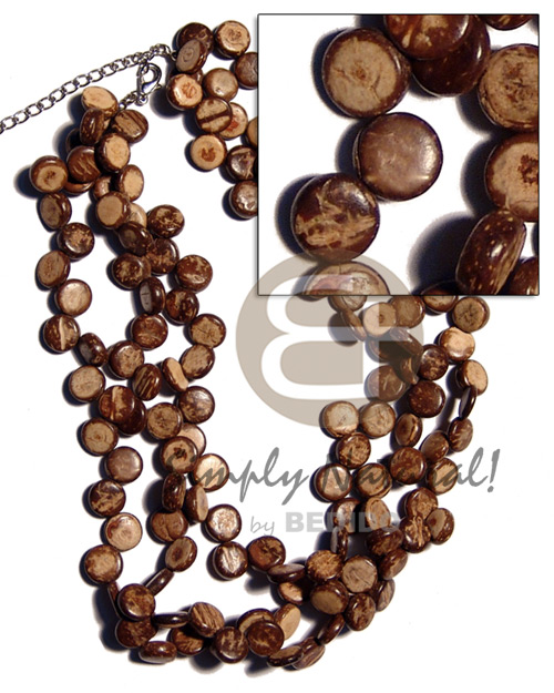 3 layers 10mm coco siderill Coco Necklace