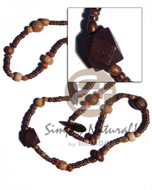 """kalandrakas""- asstd. wood beads per Coco Necklace"