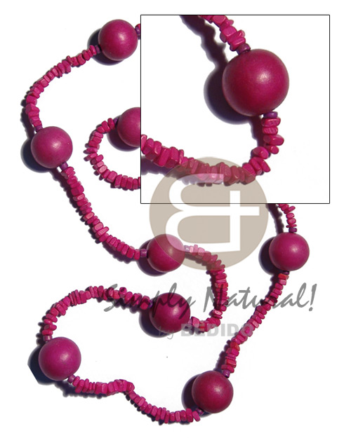 4-5mm pink coco square cut Coco Necklace