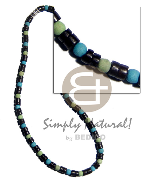 7-8mm black coco heishe Coco Necklace